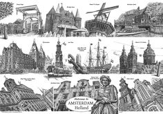 Amsterdam, pentekeningen, Teus Zantman