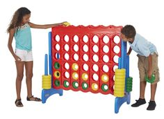 Four To Score is like an oversized version of Connect Four.