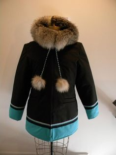 Inuit made women's parka by Victoria Okpik Native Wears, Coats For Women, Clothes For Women, Parka Style, Womens Parka, Native American Fashion, Winter Wear, Autumn Fashion, Winter Jackets