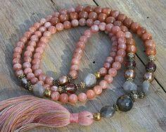 Schöne Jaspis Edelstein Mala Halskette von look4treasures auf Etsy