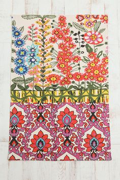 Floral Stripe Printed Rug: found this rug at urban outfitters. could be any rug with a bright floral print like this. Motif Floral, Floral Stripe, Stripe Print, Floral Rugs, Textiles, Urban Outfitters Rug, American Outfitters, Triangles, Decoration Inspiration