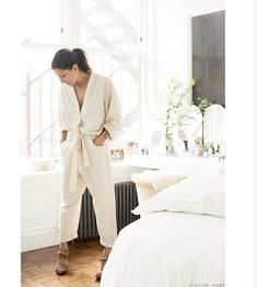 """7fa01b37cc6a8b Marrakshi Life on Instagram  """"the women we love    Ariane Goldman as  featured on atelier dore in her ML kimono jumpsuit    ecru solid    get  yours today   …"""