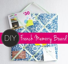 How to make a French memory board.