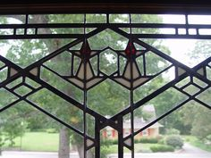 Stained glass window at the Bradley House - Kankakee, IL