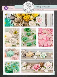 Prima Pastel flowers - noone does flowers like Prima :) 12x12 Scrapbook, Scrapbook Supplies, Craft Supplies, Scrapbooking, Scrapbook Paper Flowers, Pastel Flowers, Amazing Flowers, Handmade Flowers, Mini Albums