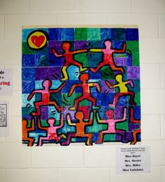 Started the school year with this collaborative art lesson for 3rd graders.