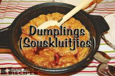South African Recipes | DUMPLINGS (SOUSKLUITJIES)