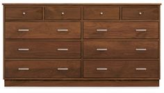 linear 67w Ten Drawer Dresser with Wood Base-Room and Board