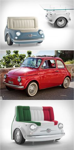 A Fiat 500 Turned Into Furniture