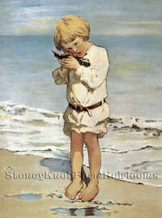 Sea Dreams ~ Children, Jessie Wilcox Smith ~ Cross Stitch Pattern #StoneyKnobFarmHeirlooms #Frame