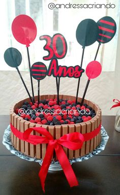 Bolo Flamengo Kit Kat - Aniversário/Festa
