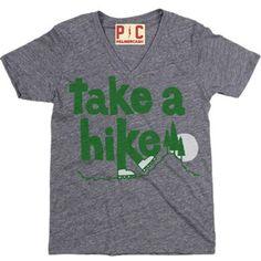 Women's Take A Hike T-Shirt, Vintage Hiking Tee, Take a Hike Outdoors Tee at PalmerCash.com