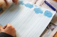 Deszcz- kreślenie pionowych linii