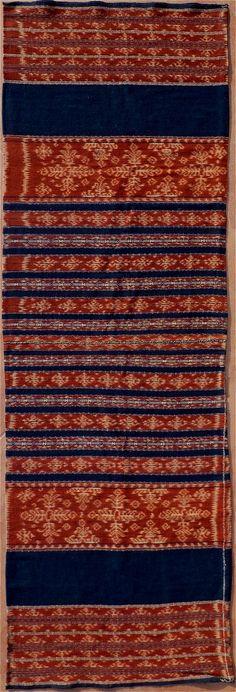 Indonesian Warp Ikat Sarong Textile. Savu Group, Savu, Indonesia.1930.