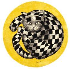 Piero Fornasetti, rug High Fidelity, 1950s