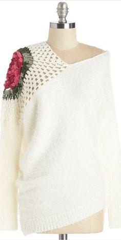 asymmetric neckline sweater