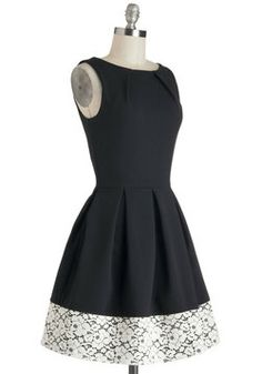 Audrey's Top of the A-line Dress in Lace, #ModCloth...very Audrey Hepburn