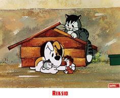 Reksio Nostalgic Pictures, Character Drawing, Childhood Memories, Snoopy, Wallpaper, Drawings, Painting, Fictional Characters, Vintage