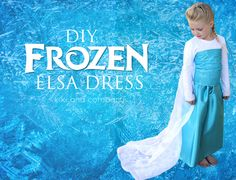 DIY Frozen Elsa Dress. Make your own Elsa dress..super easy and super cute!