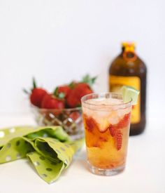 SOIREE | CENTER - Soiree Sippers: Strawberry-Ginger Fizz via soireecenter.com