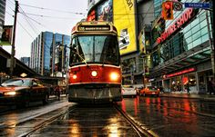 The Red Rocket the 505 Broadview Streetcar, Toronto, Ontario, Canada Motion Photography, Image Photography, Toronto Ontario Canada, Toronto Travel, Downtown Toronto, My Kind Of Town, Life Photo, City Streets, Wonders Of The World