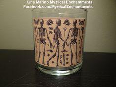Halloween Skeleton Anatomy votivetea light by MYSTICALLYENCHANTING, $5.75