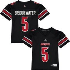 Teddy Bridgewater Louisville Cardinals adidas Youth Replica Jersey - Black