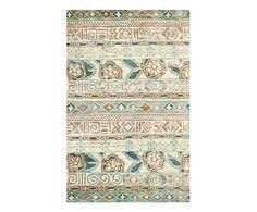 Alfombra de yute artesanal Silvan, multicolor - 152x243 cm