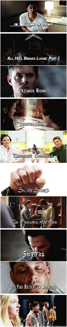 [gifset] IMDB's top ten highest rated episodes of Supernatural