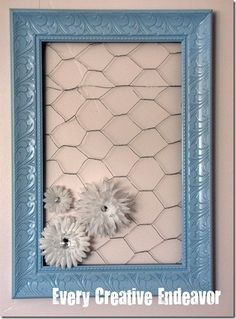 Chicken wire bow holder tutorial - thinking about this with a pink or turquoise frame. Question is: how many will I need to make?