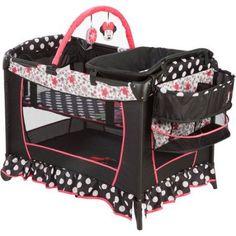 Disney Baby Sweet Wonder Play Yard, Minnie Mouse Coral Flowers - Walmart.com