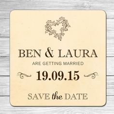 Save the Date Beer Mats Personalised | eBay