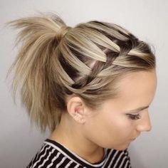 Headband Braid And Ponytail