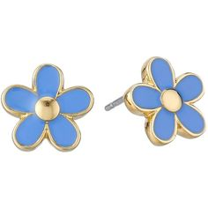 Marc by Marc Jacobs Daisy Studs Earrings Earring, Blue ($25) ❤ liked on Polyvore featuring jewelry, earrings, blue, stud earring set, post earrings, blue stud earrings, stud earrings und blue jewelry
