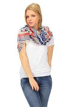 LIU.JO - Sciarpe - Abbigliamento - Sciarpa in tessuto con stampa a fantasia. - BLUETTE - € 29.00