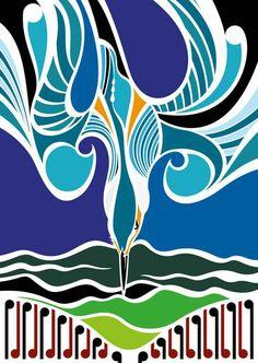 New Zealand's Leading Online Design Store. Turquoise Art, New Zealand Art, Nz Art, Black Love Art, Maori Art, Various Artists, Cool Artwork, Art Day, Illustrators