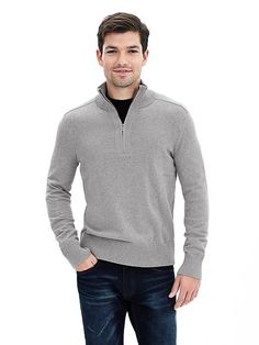Sticky Man, Half Zip Sweaters, Cashmere, Pullover, Men Sweater, Mens Fashion, Cotton, Mens Tops, Jackets