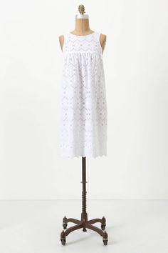 Ivy Eyelet Mini Dress - Anthropologie.com // Waaaaaaant Yoooooou