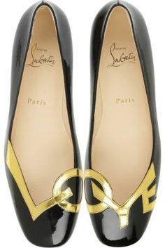 Louboutin Love Flats Black and Gold LOVE flats with red soles #designer #shoes #flats #love #gold #red #sole #redsole #christian #louboutin #christianlouboutin #bridal #bridalshoes #wedding #weddingshoes #jevel #jevelwedding #jevelweddingplanning Follow Us: www.JevelWeddingPlanning.com www.facebook.com/jevelwedding/ www.twitter.com/jevelwedding/