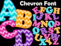 FONTS - Chevron Pattern from Moonlit Productions on TeachersNotebook.com (107 pages)  - chevron font!
