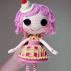 Lalaloopsy Cherry Crisp Crust Doll amigurumi crochet pattern by Epic Kawaii