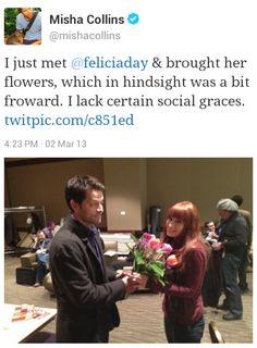 Misha + Felicia @ ECCC #supernatural #mishacollins #feliciaday