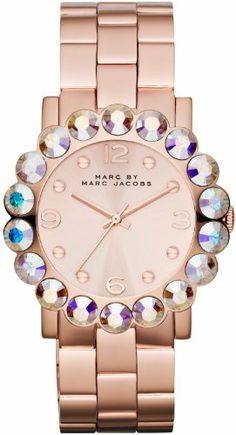 5. Marc by Marc Jacobs Rose Dial Rose Gold-tone Ladies Watch MBM3223