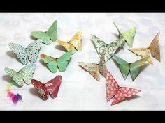 Farfalle Origami Tutorial-Origami Butterfly-DIY-Farfalle di carta Fai da te - YouTube