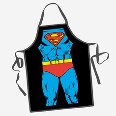 DC Comics Superman Character Apron | Brit + Co. Shop | DIY Online classes, DIY kits and creative products from makers you'll love.