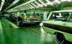 1966 Mercurys at the St. Louis Ford plant.