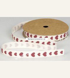 Κορδέλα βαμβακερή οικολογική με καρδούλες κόκκινες Plates, Tableware, Licence Plates, Dishes, Dinnerware, Griddles, Tablewares, Dish, Place Settings