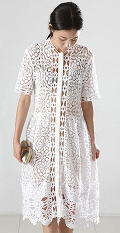 This white cotton dress will be a favorite for parties, it comes with a nude slip for the perfect amount of coverage, complete your elegant look with heels and clutch.
