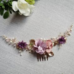 ✨ Lily wedding haircomb✨ Lily Wedding, Wedding Hair Accessories, Hair Comb, Wedding Hairstyles, Jewelry, Jewlery, Jewerly, Schmuck, Wedding Hair