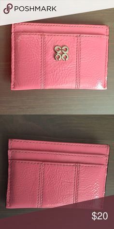 Coach cardholder Patent leather pink coach cardholder. Never used. Very girly and cute  Coach Bags Wallets